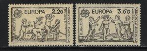 ANDORRA, 372-373, NO GUM, 1989, EUROPA