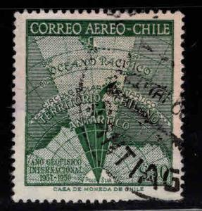 Chile Scott C214 Used  airmail Map stamp