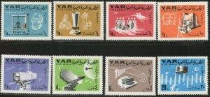 YEMEN AR Sc#219-219G 1966 Telecommunications Perf, Imperf, S/S Complete OG MNH