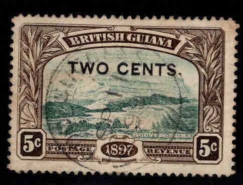 British Guiana Scott 157 Used surcharged stamp