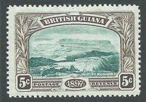 BR GUIANA 1897 5c pictorial Mt Roraima SG219 fine mint hinged..............66112