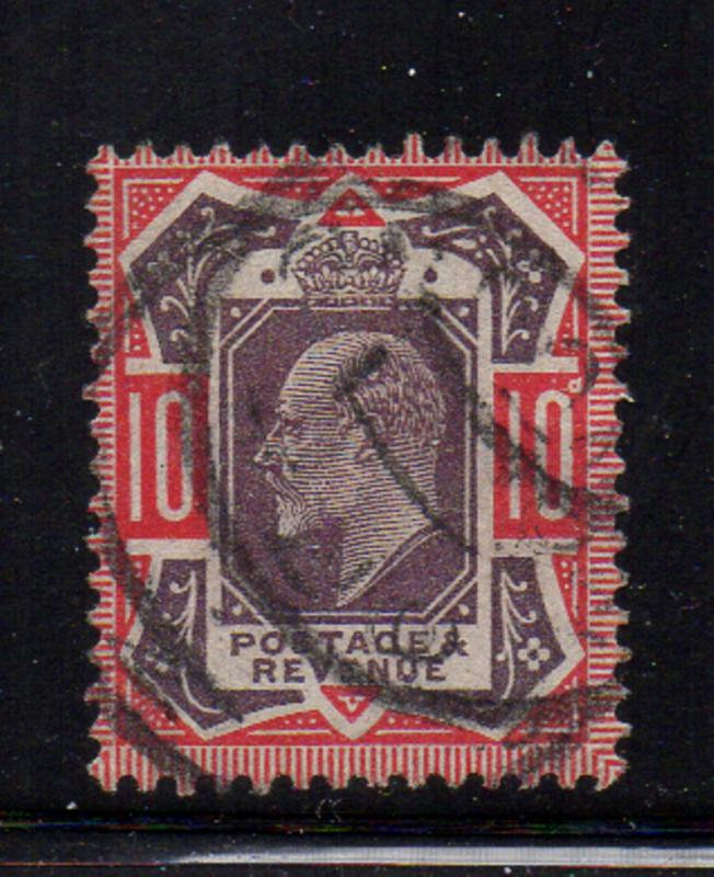 Great Britain Sc 137 1902 10d Edward VII stamp used