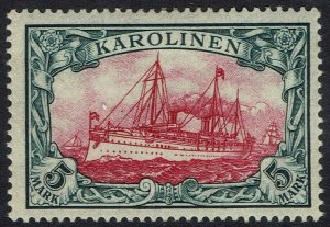 GERMAN CAROLINE ISLANDS 1901 YACHT 5MK NO WMK