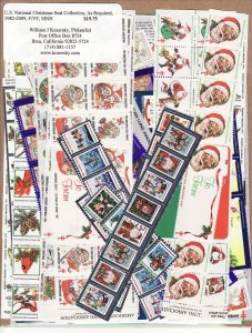 1982-2009 U.S. National Christmas Seal Collection, As Required
