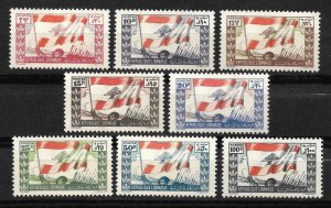 Doyle's_Stamps: Scott #181** to #188** Lebanon 1946 Postage Set       (L34)