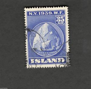 1939 SCOTT #214 NEW YORK WORLD FAIR  Θ used stamp