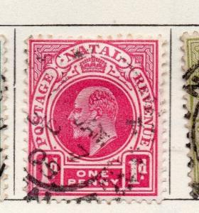 Natal 1904 Early Issue Fine Used 1d. Optd 261140