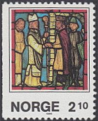 Norway # 900 mnh ~ 2.10k Christmas - Stained Glass