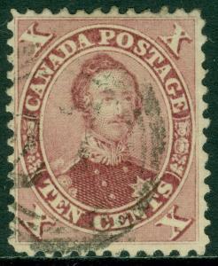 EDW1949SELL : CANADA 1859 Scott #17 Reddish Purple. Very Fine, Used. AIEP Cert.