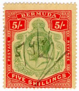 (I.B) Bermuda Revenue : Duty Stamp 5/-