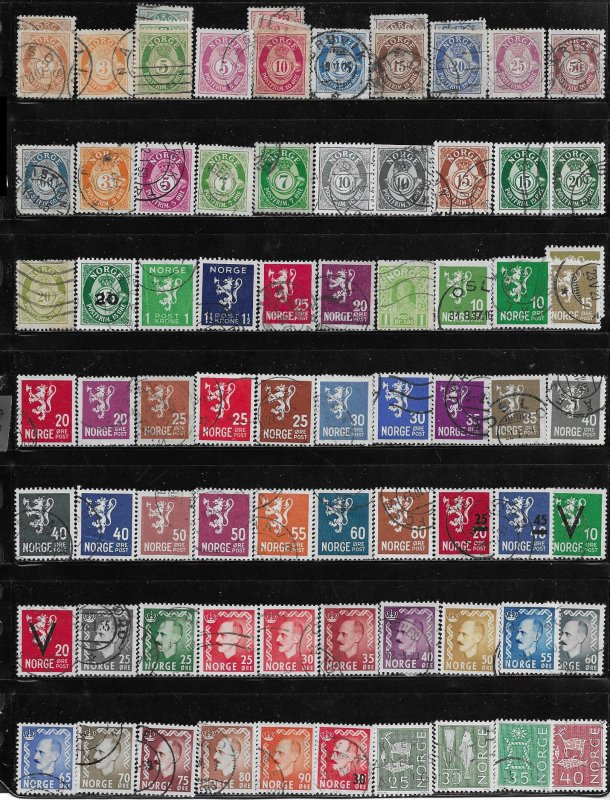 Norway 140 + used issues mini collection  @ 5¢ each - 13149