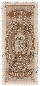(I.B) Denmark Revenue : Stempel Maerke 8sk