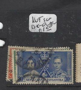 KENYA, UGANDA, TANGANYIKA   (P3105B)  KGVI CORONATION  SG 138-140   VFU