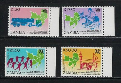 Zambia 511-14 NH 1990 set