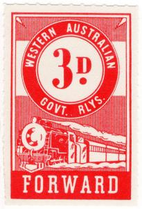 (I.B) Australia - Western Australia Railways : Parcels 3d