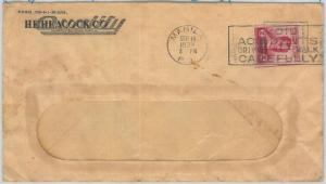 70931 - PHILIPPINES - Postal History - Postmark on COVER  1939:  ROAD SAFETY