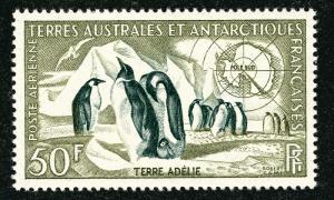 FSAT Antarctic Emperor Penguins issue (Scott C1) VF MH Cat $40...Popular!