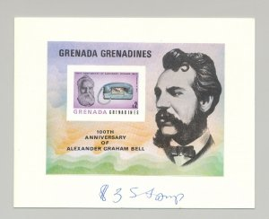 Grenada Grenadines 1977 Bell, Telephone, 1v imperf s/s proof