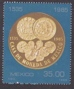 Mexico # 1380, 1st Gold & Copper Coins, NH 1/2 Cat.