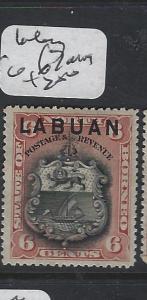 LABUAN  (P2707B)  ARMS, LION 6C   SG 67   MOG