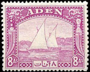 Aden #1-8, Incomplete Short Set(8), Hinged
