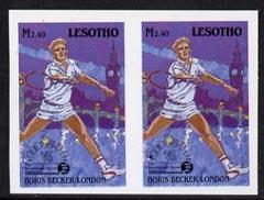 Lesotho 1988 Tennis Federation 2m40 (Boris Becker) unmoun...