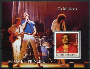 Sao Tome & Principe Music Stamps 2011 MNH Freddie Mercury Queen People 1v S/S
