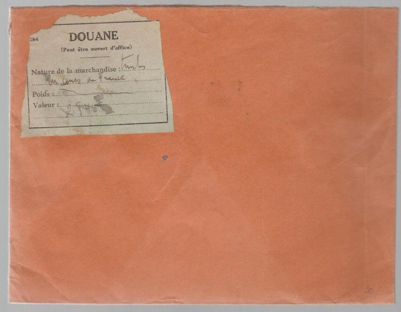 1942 Tassin La Demi Lune France Registered cover to Morocco Overprinted Stamps