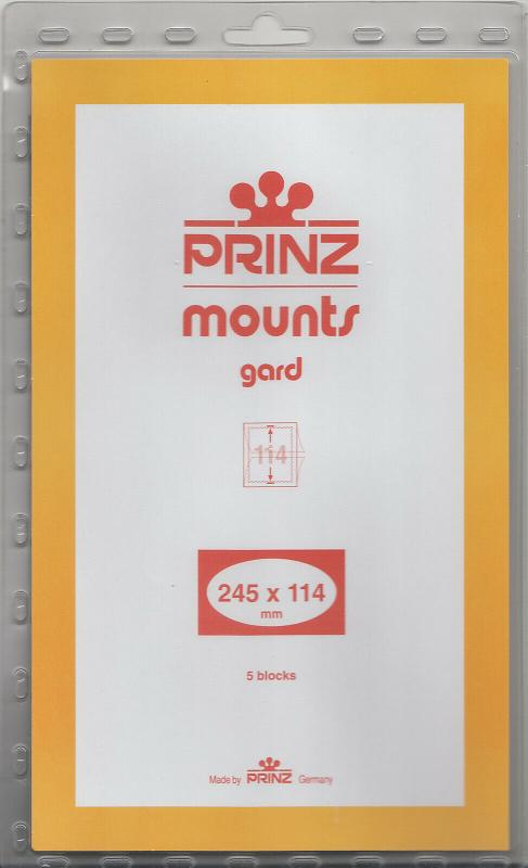 PRINZ 245X114 (5) BLACK MOUNTS RETAIL PRICE $10.50