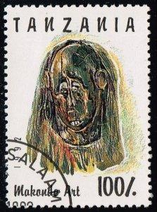 Tanzania #985E Carved Face; CTO (0.90)