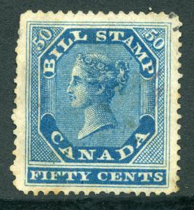 van Dam FB14 - 50c blue- Used- 1864 First Bill Issue