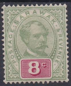 SARAWAK 1888 RAJA BROOKE 8C