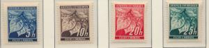 Bohemia and Moravia (Czechoslovakia) Stamps Scott #20-6 & 24A, Mint Never Hin...