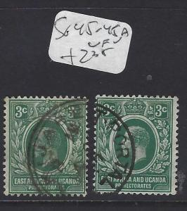 EAST AFRICA AND UGANDA  (P1710B)  KGV  3C  SG 45-45A    VFU