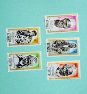 Guinea - 258-62, MNH Set. African Heros, Martyrs. SCV- $5.50