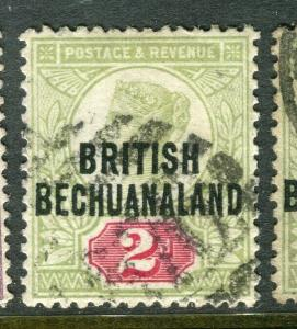 BECHUANALAND; 1891 early classic QV issue fine used 2d. value