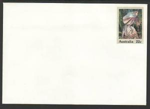 Australia Lizard Unused Postal Envelope