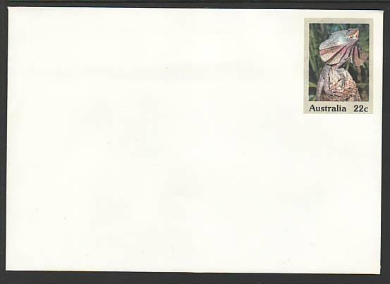 Australia Lizard Unused Postal Envelope
