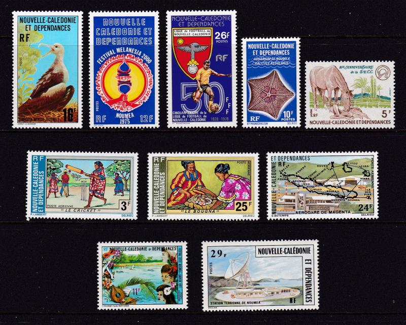 New Caledonia a small MNH lot of better items
