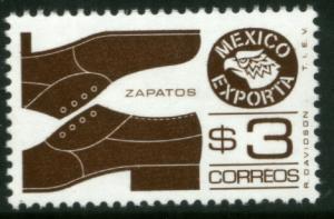 MEXICO Exporta 1118a $3P Shoes Perf 11 1/2 Fluor Paper 6 MNH