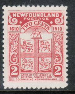 Newfoundland #88 Very Fine Never Hinged