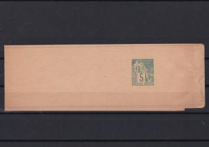 original authentic french colonies newspaper stamp wrapper 1876 - 90 ref r13042