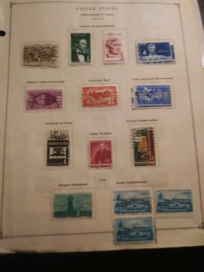 United States Commems Mint and used on 6 remainder pages