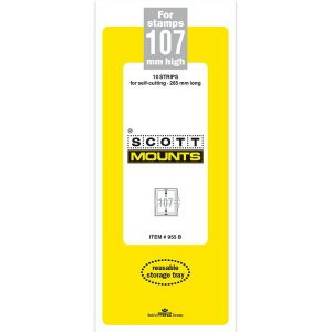 Scott/Prinz Pre-Cut Strips 265mm Long Stamp Mounts 265x107 #955 Clear