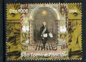 SAO TOME & PRINCIPE 2004 FREEMASONRY Set 1v Perforated Mint (NH) #4
