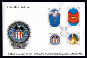 Solomon Islands 643-646 Anniversary Moon Landing U/A FDC