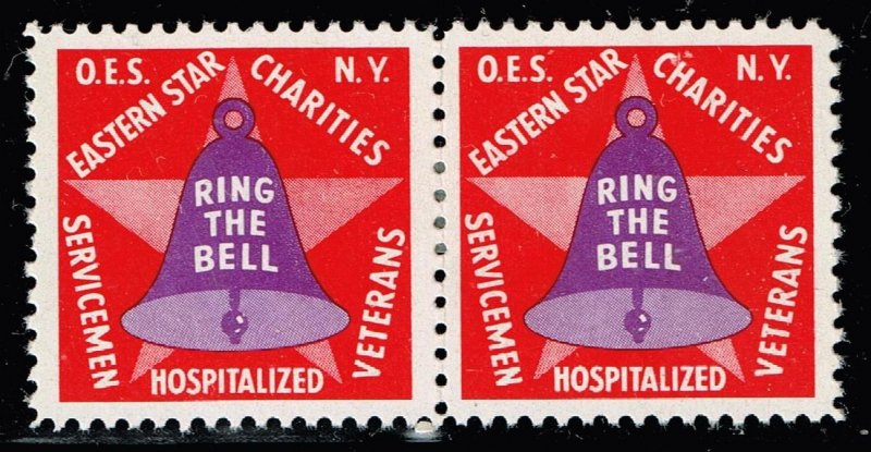 US STAMP  O.E.S. Masonic CHARITY MH/OG PAIR Stamps COLLECTION LOT #2
