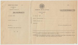 PARAGUAY 1932-35 CHACO WAR WITH BOLIVIA INTACT SAFE PASS BY PARAGUAY ARMY RARE
