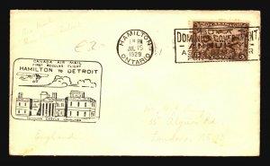 Canada 1929 FFC - Hamilton to Detroit - Z16717