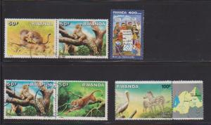 RWANDA SET OF STAMPS #1269- 94-95-96 .1394(6)  LOT#160
